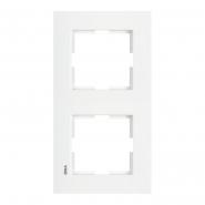Рамка двойная вертикальная белый VIKO Серия KARRE