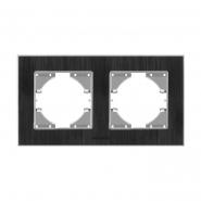 Рамка черный алюминий 2 поста горизонтальная (VF-BNFRA2H-B) VIDEX BINERA