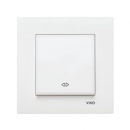 Выключатель одноклавишный реверсивный (промежуточный) белый VIKO Серия KARRE - 1