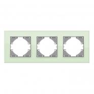 Рамка на 3 места горизонтальная VIDEX Binera Зеленое стекло (VF-BNFRG3H-GR)