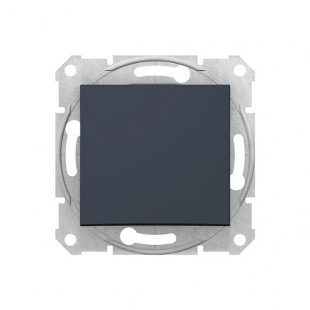 Выключатель 1 кл. графит - 1