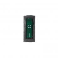 Кнопка узкая вкл/выкл зеленая
