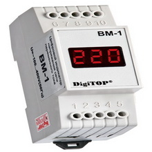 Вольтметр цифровой перем. тока Вм-1 (100-400В) на дин-рейку V-protektor - 1