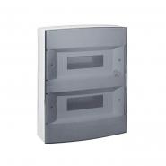 Распределительный шкаф Legrand Ekinoxe, 24 мод., IP40, навесной, пластик, прозрачная дверь, 621084