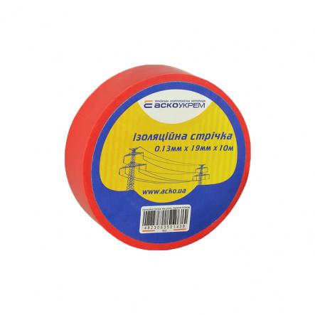 Изолента 0,13мм*19мм 10м красная АСКО - 1