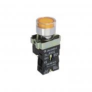 Кнопка  LAY5-BW3561 с подсветкой жёлтая 1НО ИЕК