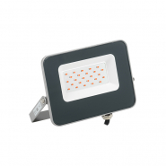 Прожектор LED СДО 07-20R red IP65 серый IEK