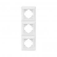 Рамка х3 вертикальная белая  VIDEX BINERA