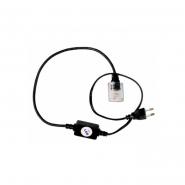 Вилка+кабель 4-х пол. акс.дюролайт LED