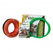 Коаксиальный нагревательный кабель Volterm HR18 400 2,2-2,7мм.кв. 400 W, 22 м (нужно ленты 10м)