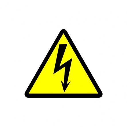 Табличка Осторожно! Электрическое напряжение (треугольник) (160 мм) У 2.5 - 1