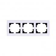 Рамка 3-я горизонтальная с боковой вставкой Lezard серия RAIN