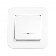 Выключатель 1кл. с подсветкой белый ROLLINA VIKO