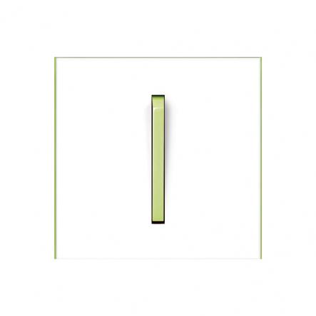 Клавиша одинарная Neo белый/зеленый лед - 1