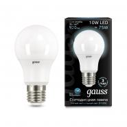 Лампа Gauss LED A60 10W E27 4100K 1/10/50