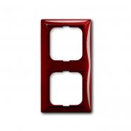 Рамка двойная Basic 55 красный фойер ABB