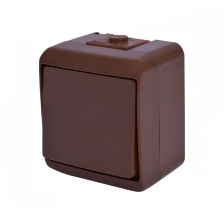Выключатель 1-клавишный (коричневый) (IP44) VHE-1-KR - 1
