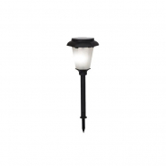 Светильник на солнечн батареях черн пластик 1LED