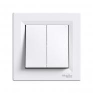 Кнопка 2-я самозажимная Asfora белый