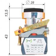 Выключатель кнопочный ВК-021НЦВЧ 1З черный IP-54 (выпуклый) Промфактор