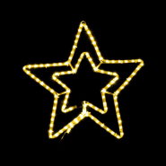 Снежинка (ЗВЕЗДА) MOTIF Star 58см желтая IP44