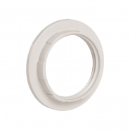 Кольцо к патрону, пластик, Е27, белый , индивидуальный пакет, IEK