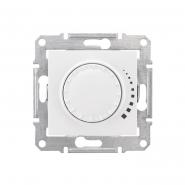 Светорегулятор проходной поворотно-нажимной универсальный белый
