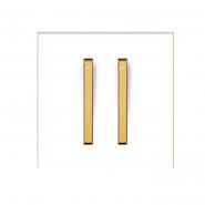 Выключатель 2-х кл. Neo белый/оранжевый лед (мех.+ клавиша)