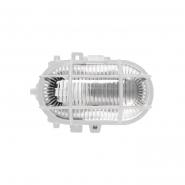 Светильник НПП 2604 60W белый-овал с решеткой пластиковый корпус IP54