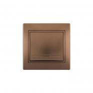 Выключатель светло-коричневый перламутр с/вст. MIRA