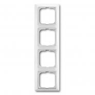 Рамка четверная горизонтальная белый Basic 55