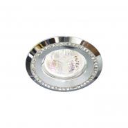 Светильник точный Feron  DL103-C прозрачный-хром