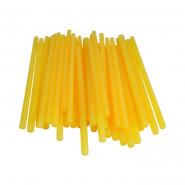 Термоклей тонкий диам.-7мм, L: 200мм, желто-матовый, 1кг.
