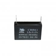 Конденсатор для запуска CBB-61 1,5мкФ 450В VAC 37x14x24 на клеммах