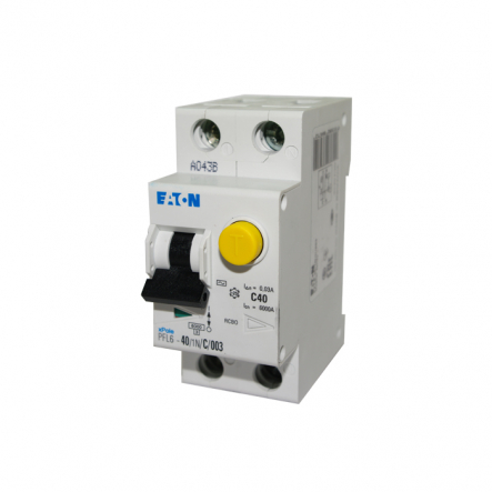 Дифференциальный автоматический выключатель PFL6-40/1N/C/0.03 MOELLER - 1