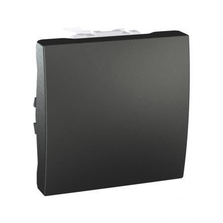Выключатель одноклавишный графит Unika - 1