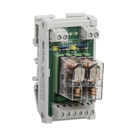 Реле интерфейсное IEK ORM 5. 2 группа контактов. 24 В DC / AC - 1