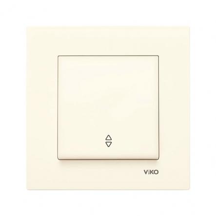 Выключатель одноклавишный на 2 направления крем VIKO Серия KARRE - 1