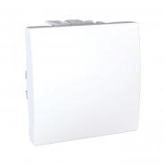 Переключатель перекрестный 2-х модульный белый Unika (сх.7)