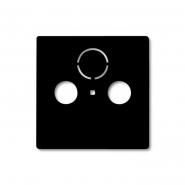 Центральная платаTV+R+(SAT) черный шато