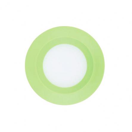 Светильник светодиодный Feron 3W круг, зеленый 240Lm 5000K 90*26mm d75mm - 1