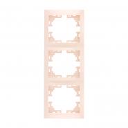 Рамка  3-я вертикальная  крем Lezard серия  MIRA