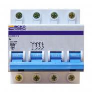 Автоматический выключатель АСКО-УКРЕМ ВА-2002 3+N 4р C 10А