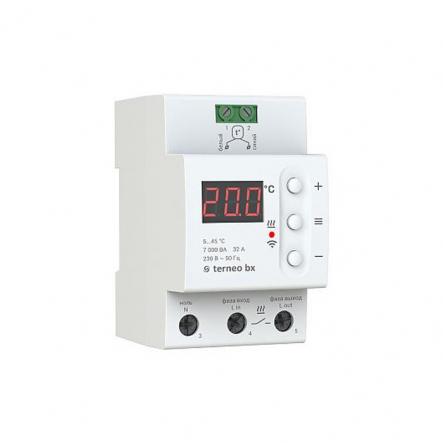 Терморегулятор TERNEO terneo bx DIn-рейка недельный програматор Wi-Fi для теплого пола - 1
