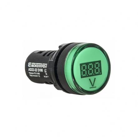 Вольтметр цифровой AD22-22DVM зеленый д.22мм АСКО-УКРЕМ - 1