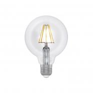 Лампа LED сфера прозрачная D95 8W GL LG-6F Е27 3000K ELECTRUM