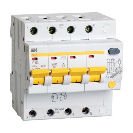 Дифференциальный автоматический выключатель IEK АД-14 4р 50А 30мА - 1