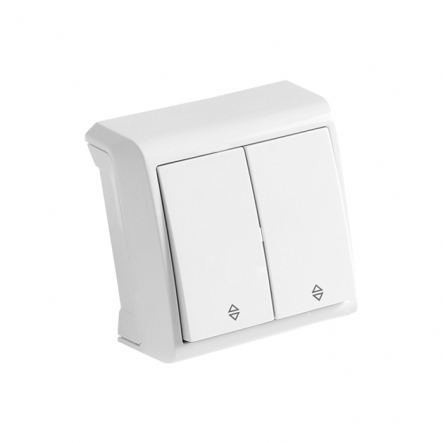 Выключатель двухклавишный проходной белый VIKO Серия VERA - 1