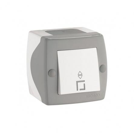 Выключатель проходной одноклавишный Mono Octans без подсветки 10 А 250В серый 104-020001-109 - 1