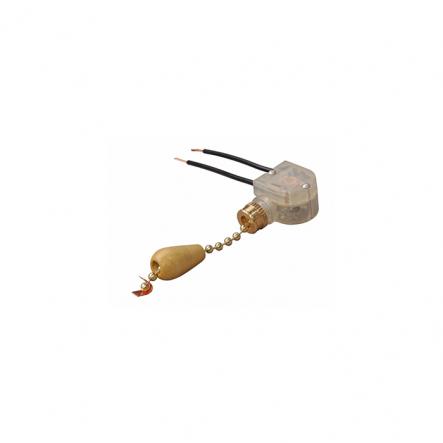 Выключатель на бра короткий шнурок серебро-дерево - 1